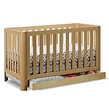 Sorelle Cortina 3-in 1 Crib with Drawer in Natural