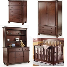 Sorelle Furniture Bolero Hutch Light Cherry