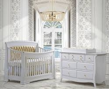 Natart Juvenile Bella Gold Furniture Set in White