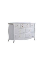 Natart Juvenile Bella Double Dresser Pure White-Gold