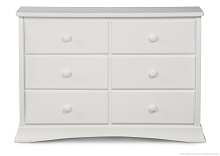 Delta Bentley 6 Drawer Dresser, White