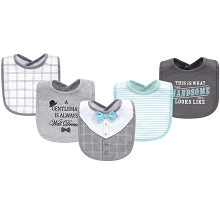 Little Treasure Cotton Drooler Bibs, 5 Pack,Well Dressed