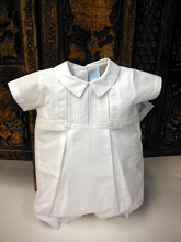 Willbeth Cotton Boy Romper White