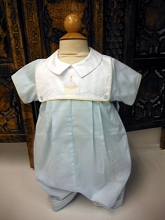Will'beth Birthday Cake Romper Blue-White