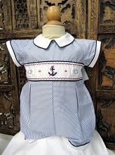 Will'beth Nautical Anchor Romper