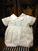 Will'beth Sailor Romper Boy White-Blue