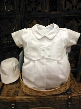 Will'beth Boys Romper Set White