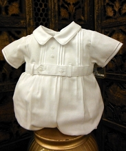 Will'beth Boy Romper White