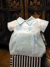 Will'beth Pinstripe Boy 2 Pieces Set Blue-White