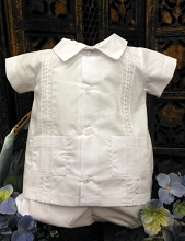 Will'beth Baby Boy's Shirt Set White