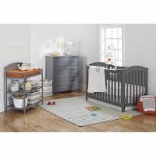 Sorelle Bridgeport Furniture Set, Crib, 4dr Dresser, Double Dresser