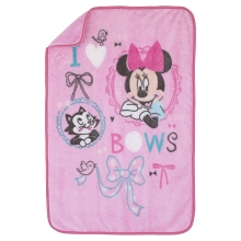 Crown Craft Nojo Minnie Luxury Plush Throw