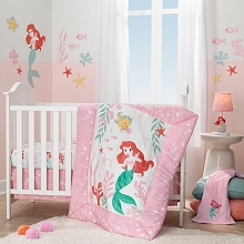 Lambs & Ivy Disney Baby Ariel Grotto Bedding Crib Set 3 Pieces
