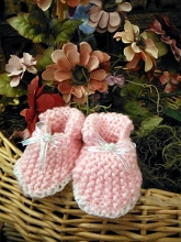 Will'beth Sweet Wool Pink Booties