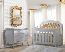 Natart Juvenile Allegra Gold Furniture Set in White