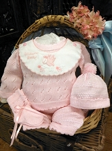 Will'beth Welcome BabyKnit Set 4-Pieces Pink