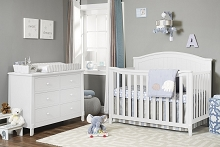 Sorelle Fairview Furniture Set, Crib, 4dr Dresser, Double Dresser