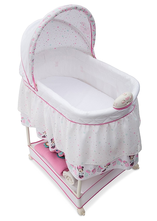 Phenomenal Delta Children Disney Minnie Mouse Boutique Gliding Bassinet Pdpeps Interior Chair Design Pdpepsorg