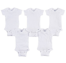 Gerber Short Sleeve Onesies One Piece Underwear 5 Pack Preemie