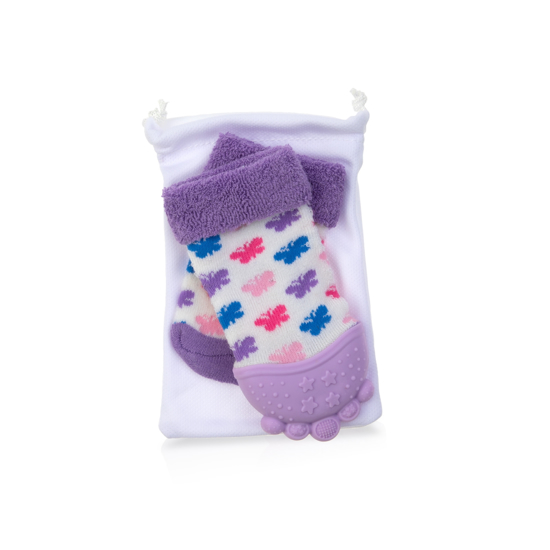Nuby Soothing Teether Socks 3+ Months