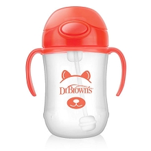 Dr Brown's Baby's First Straw Cup 9 Ounce Orange