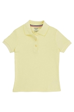 French Toast 50% Off Only $4.99 Girl Interlock Polo, Yellow