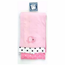 Gerber 3-Pack Girl  Knit Burp Cloths Elephant