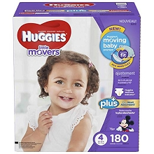 Huggies® Little Movers Plus Diapers Size 4, 180 Count