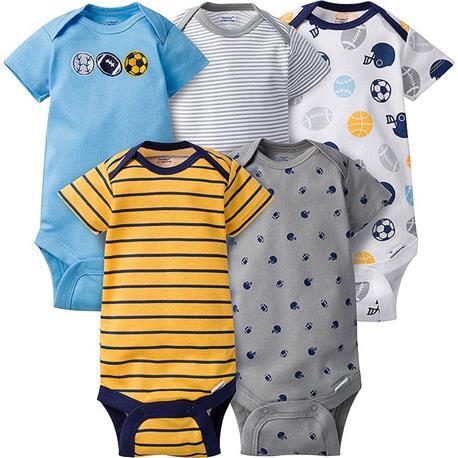 72083ad66 Gerber Short Sleeve Onesies One Piece Underwear 5 Pack 3-6 months - Boy