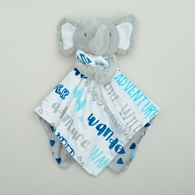 A.D.Sutton Snuggle Blanket Elephant White