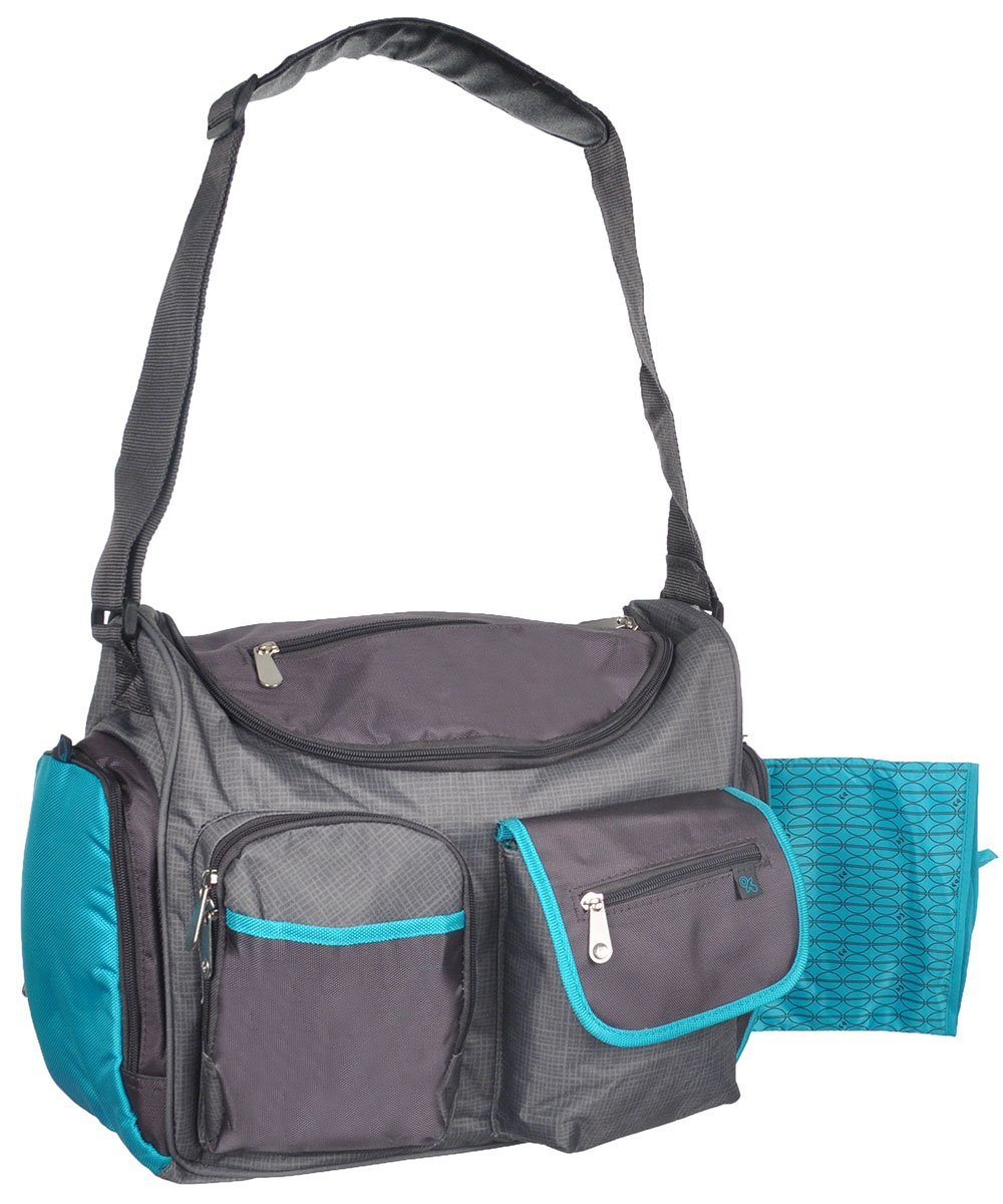 a8e794cf7070 Fisher Price Wide Opening Diaper Bag, Gray