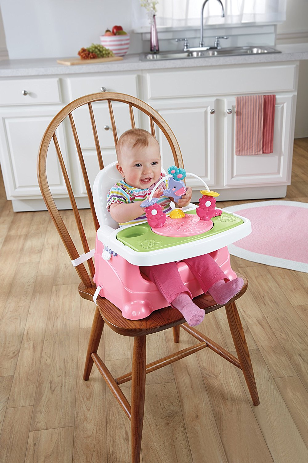 Fisher Price Pretty In Pink Elephant Booster Seat Ideal Baby Healthy Care Deluxe Blue