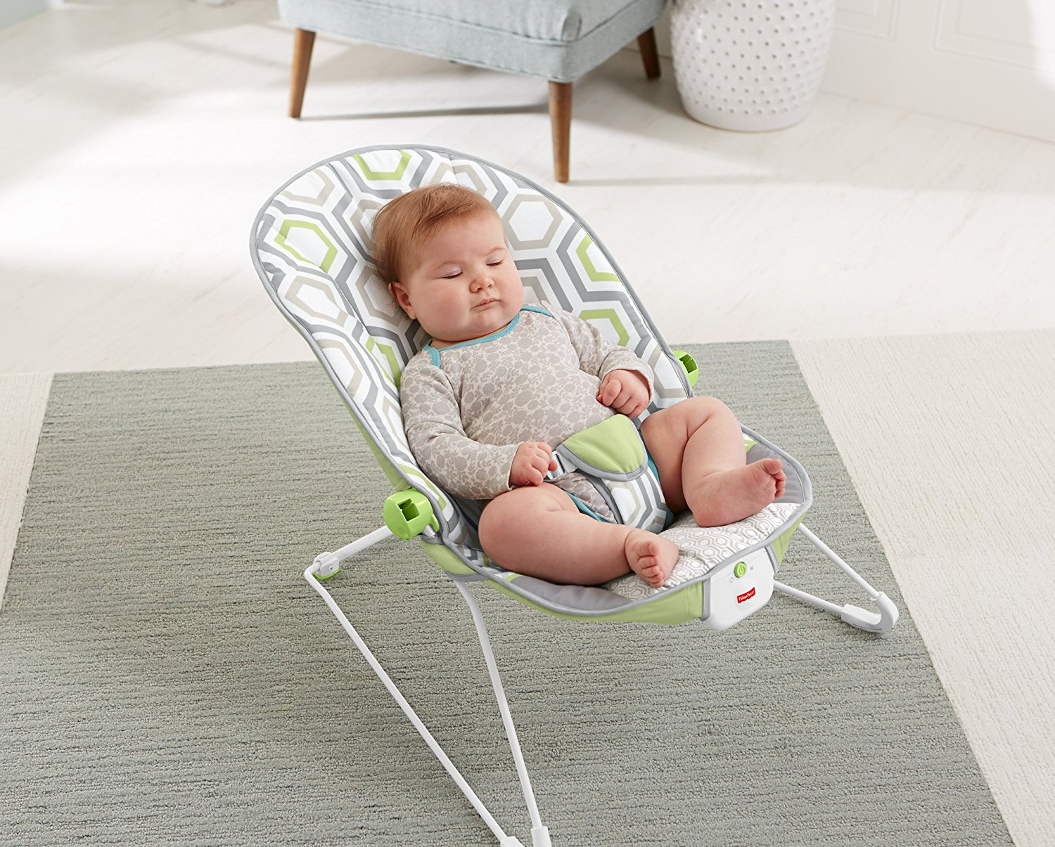 Bouncer For Baby Chair Seat Girl Boy Vibrating Soothing Fun Play Activity Center