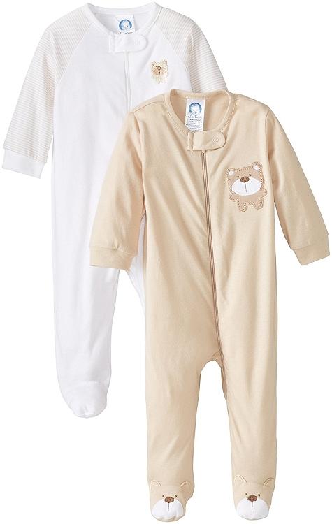 Gerber Baby 2 Pack Zip Front Sleep N Play Neutral 3 6 Months
