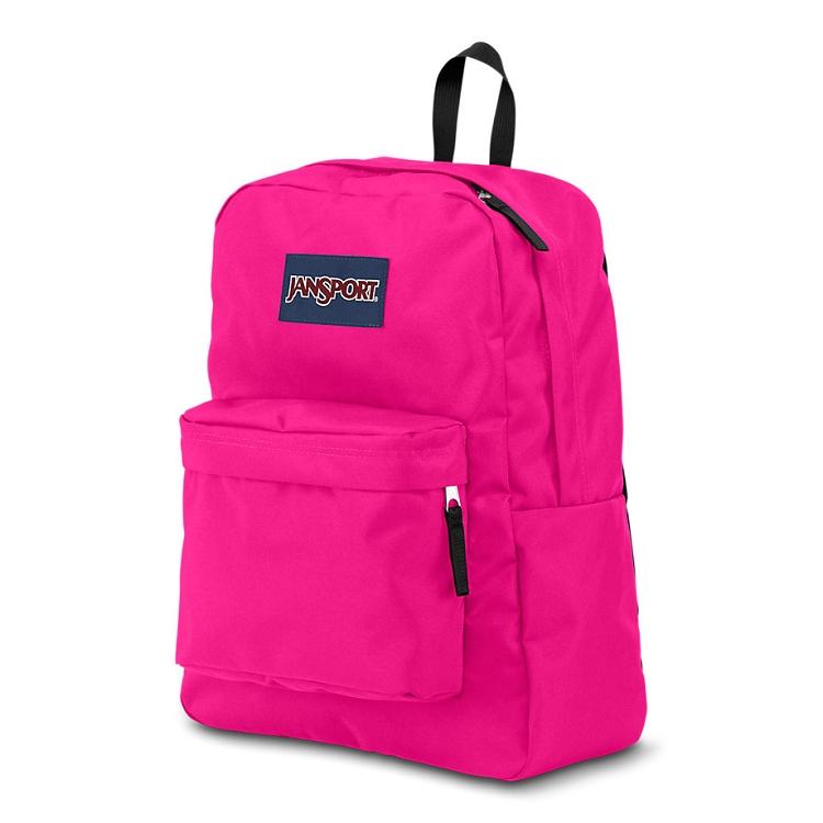 Jansport Superbreak Backpack Cyber Pink