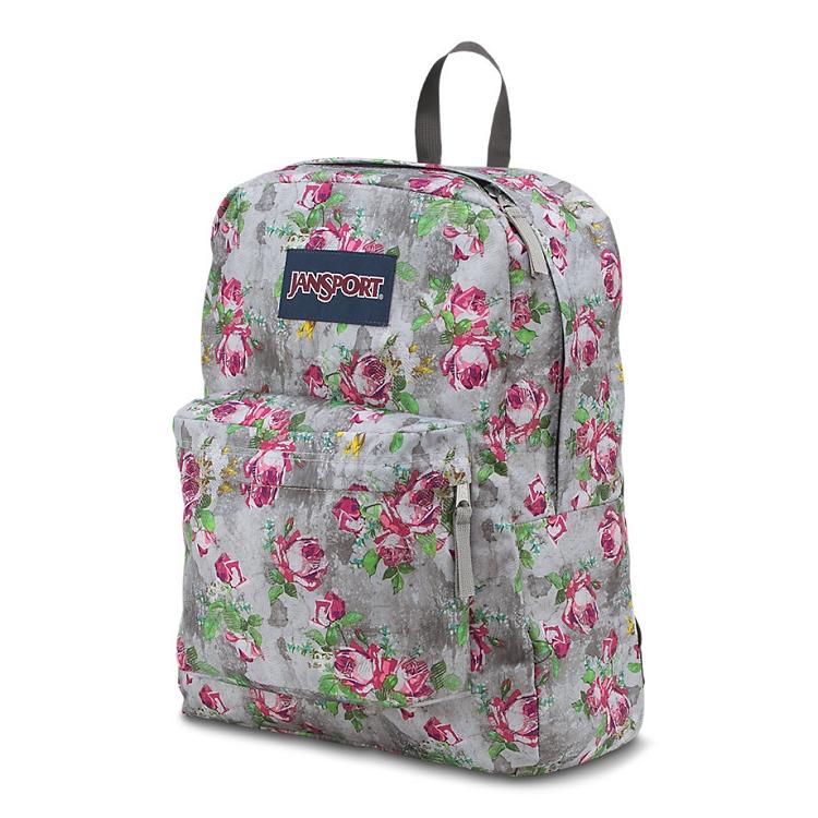 Jansport Superbreak Backpack, Multi Concrete Floral