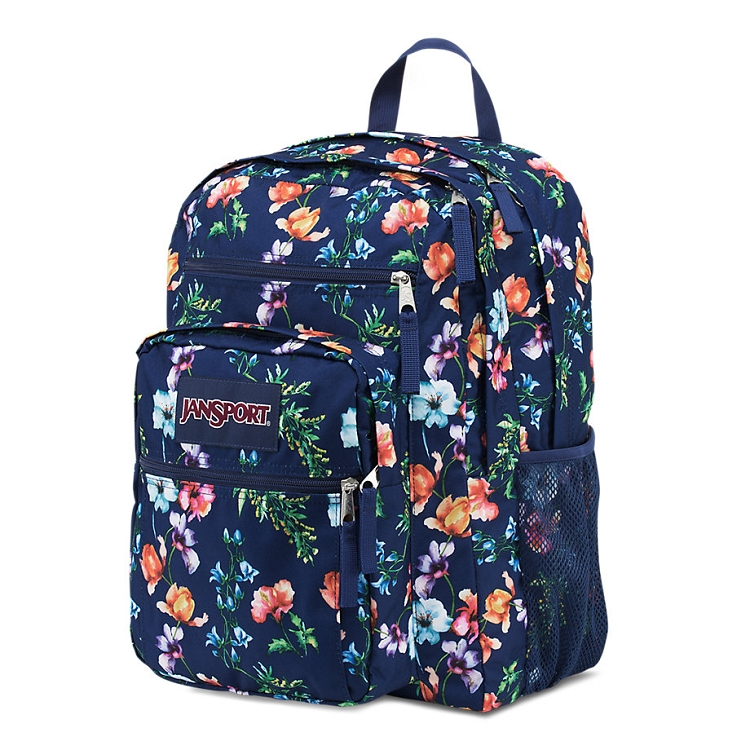 Jansport Big Student Backpack, Multi Navy Mountain Meadow - Ideal Baby