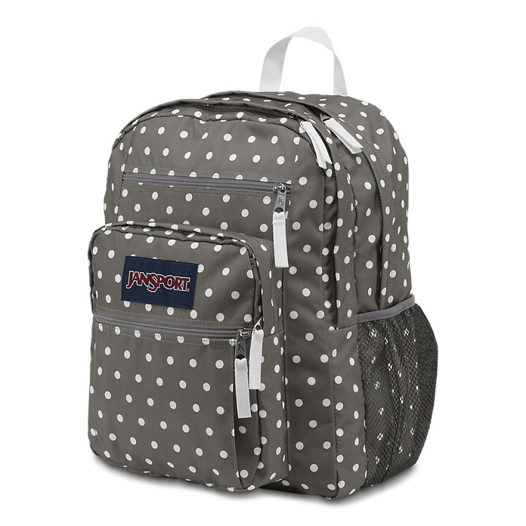 Jansport Big Student Backpack, Shady Grey White Dots - Ideal Baby