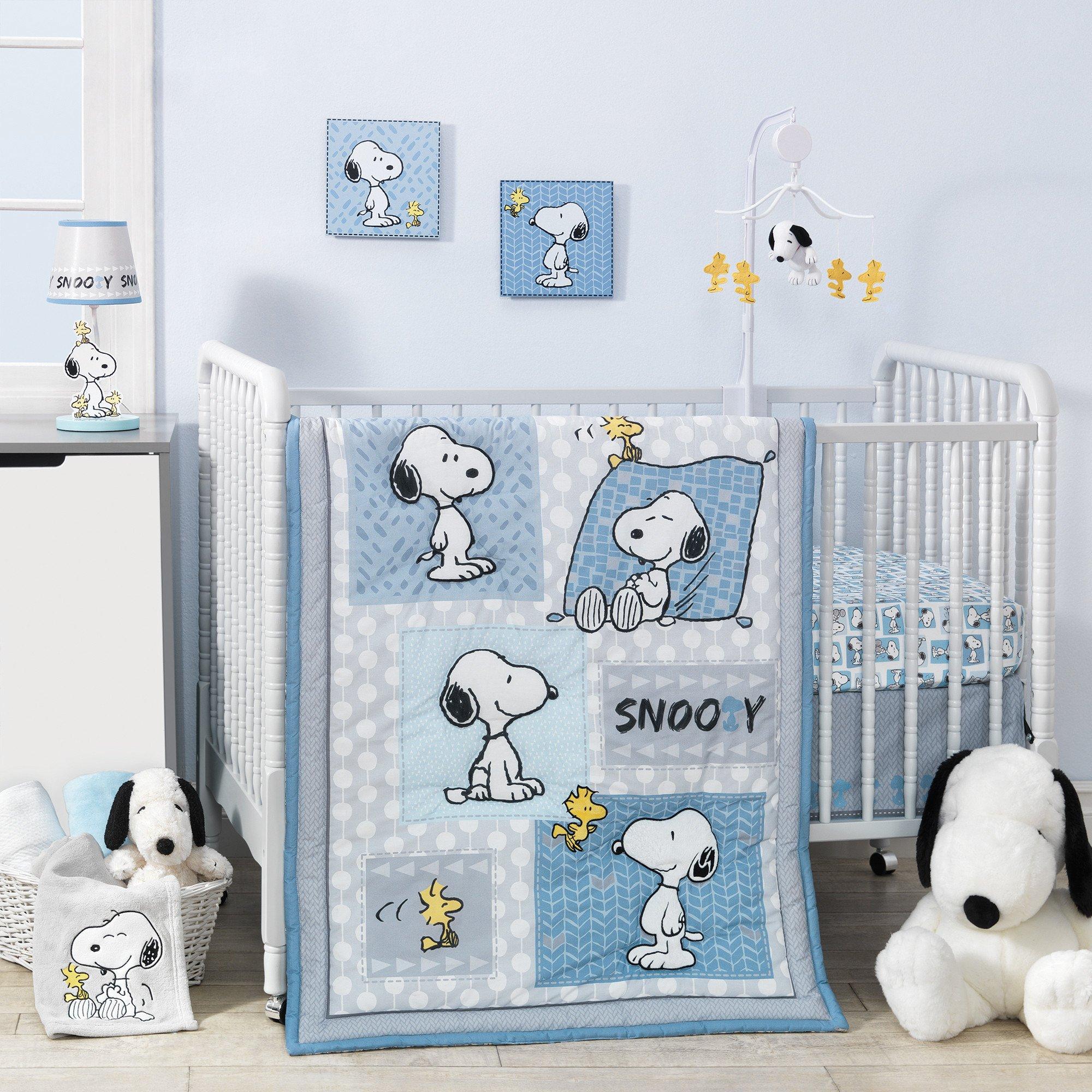 Bedtime Originals Forever Snoopy 3 Piece Crib Bedding