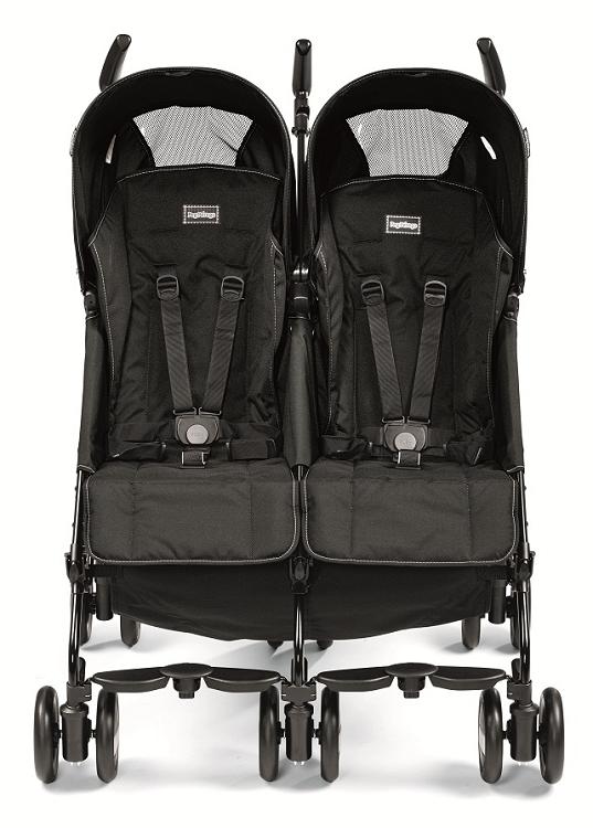 Peg Perego Pliko Mini Twin Stroller Onyx - Ideal Baby