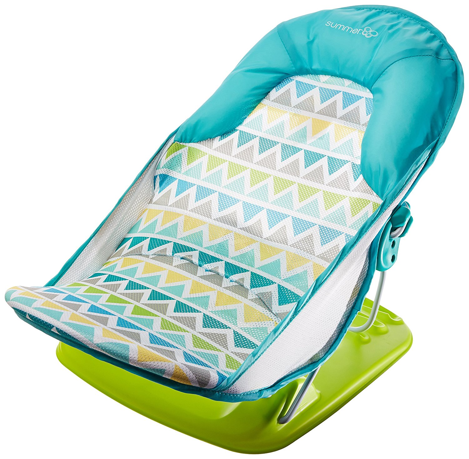 Summer Infant Deluxe Baby Bather Triangle Stripe Bath Tub