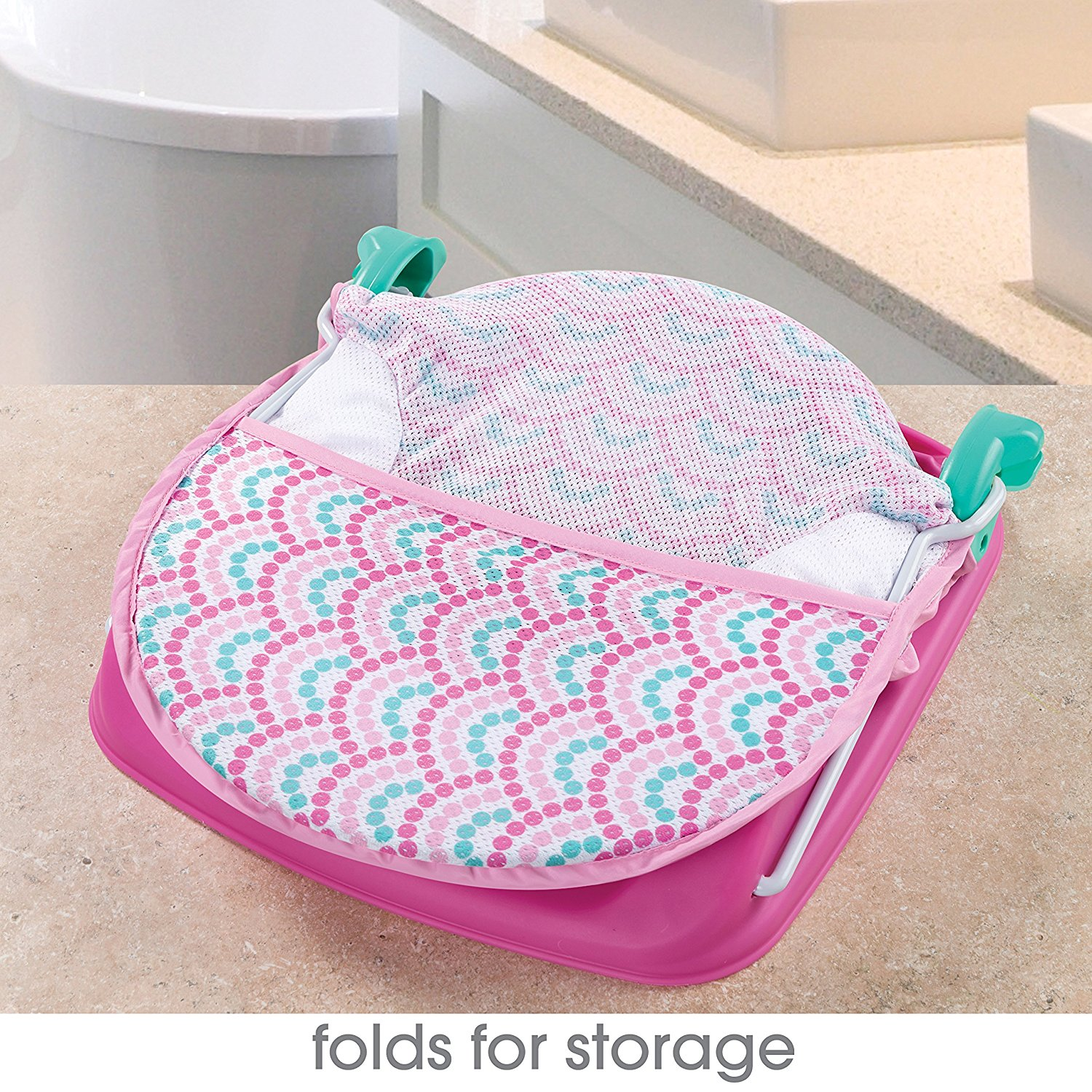 Summer Infant Deluxe Baby Bather, Bubble Waves - Ideal Baby