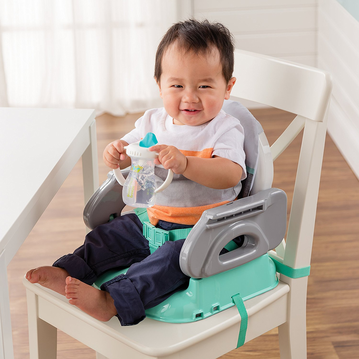 Summer Infant Deluxe Comfort Folding Booster Seat Elephant Love