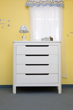Sorelle Chandler 4-Drawer Dresser in White