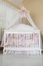 Heirloom Pink Jewel Bedding Crib Set 4-Pieces