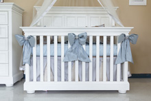 Heirloom Jewel Bedding Crib Set 4-Pieces Blue