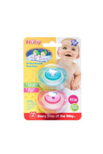 Luv n Care Nuby Ortho Glow in Dark Pacifier 2-Pack