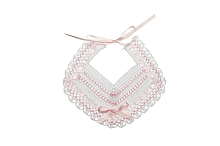 Aura Gutierrez Crocheted Bibs with Lace