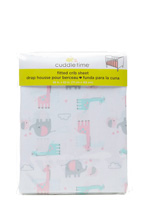 Cuddle Time Animal Fitted Crib Sheet Girl