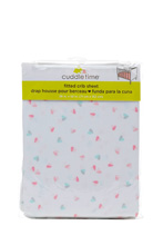 Cuddle Time Hearts Fitted Crib Sheet Girl